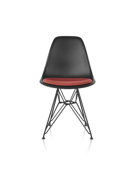 Eames 金属底座塑壳单椅带坐垫
