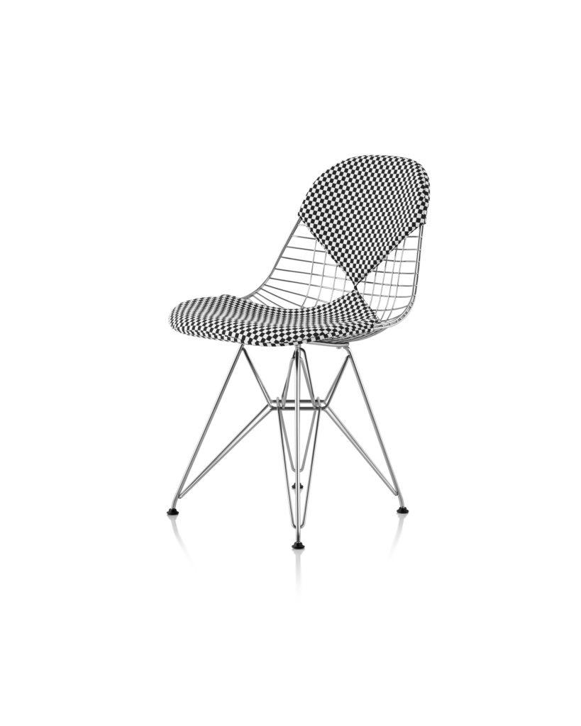 Eames 金属底座带真皮靠背和椅座钢丝座椅¥14,102.00