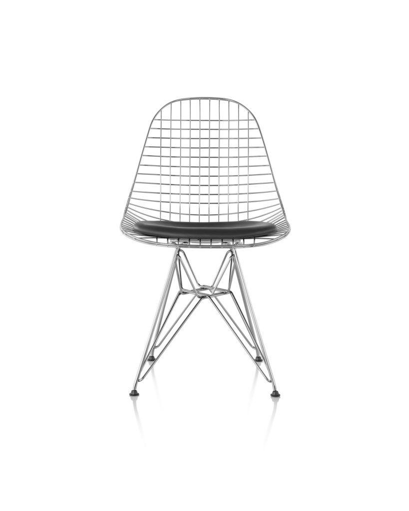 Eames 金属底座带真皮椅座钢丝座椅¥11,696.00