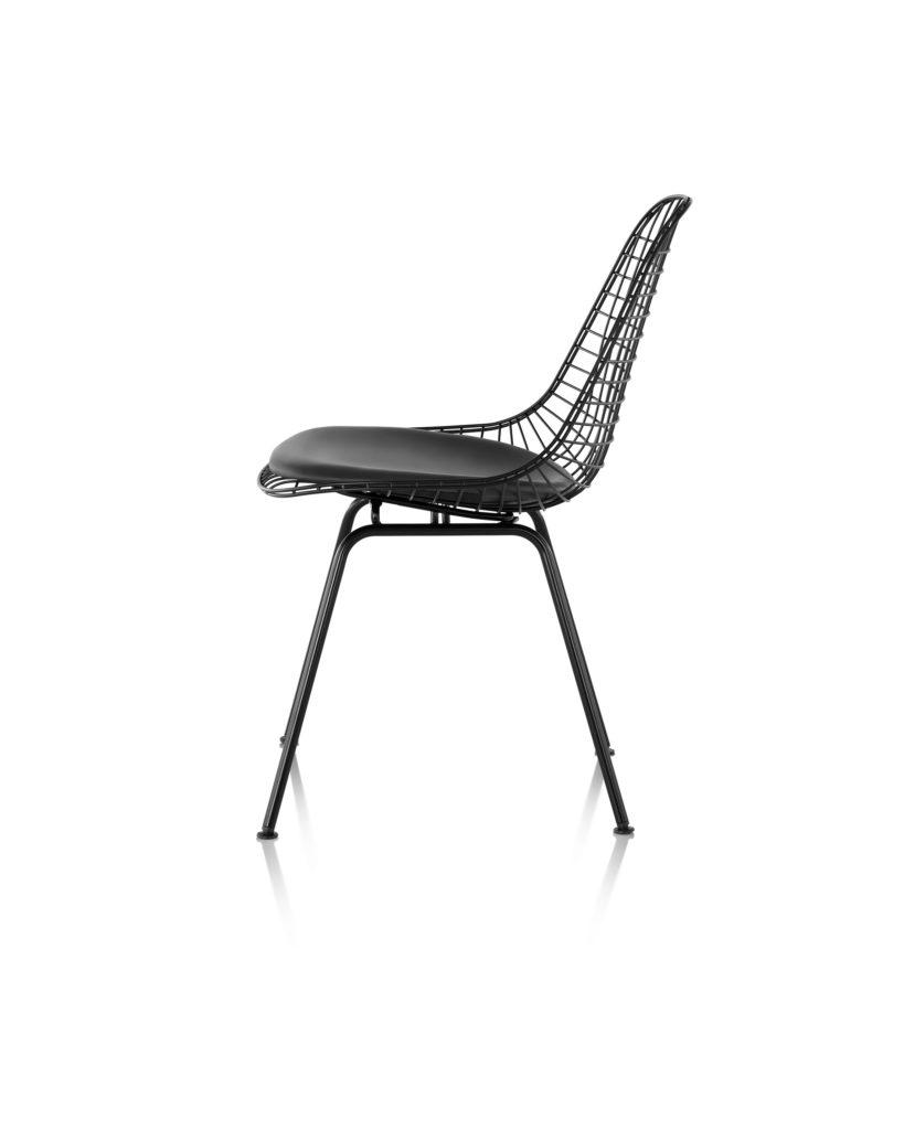 Eames 4腿底座带真皮椅座钢丝座椅¥11,696.00