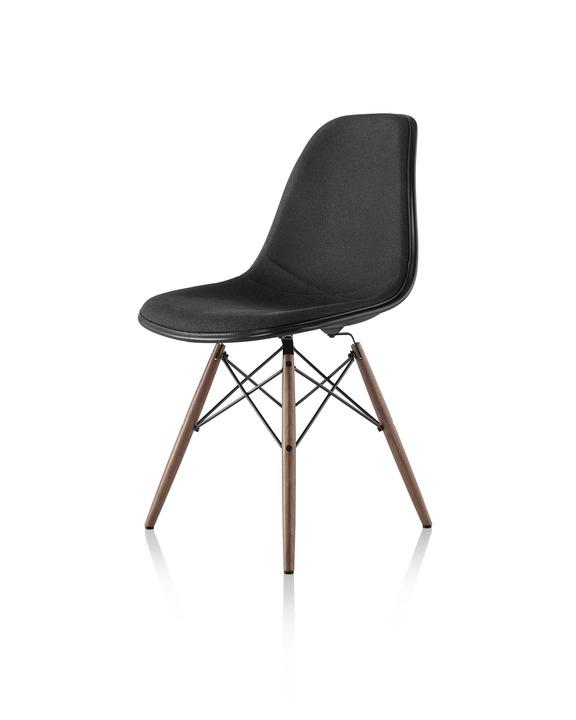 Eames 木质底座塑壳正面软包单椅