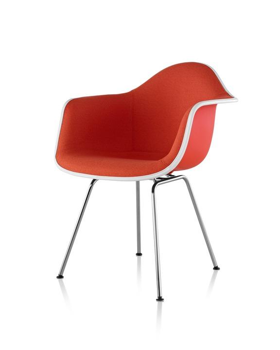 Eames 4腿底座正面软包塑壳扶手椅